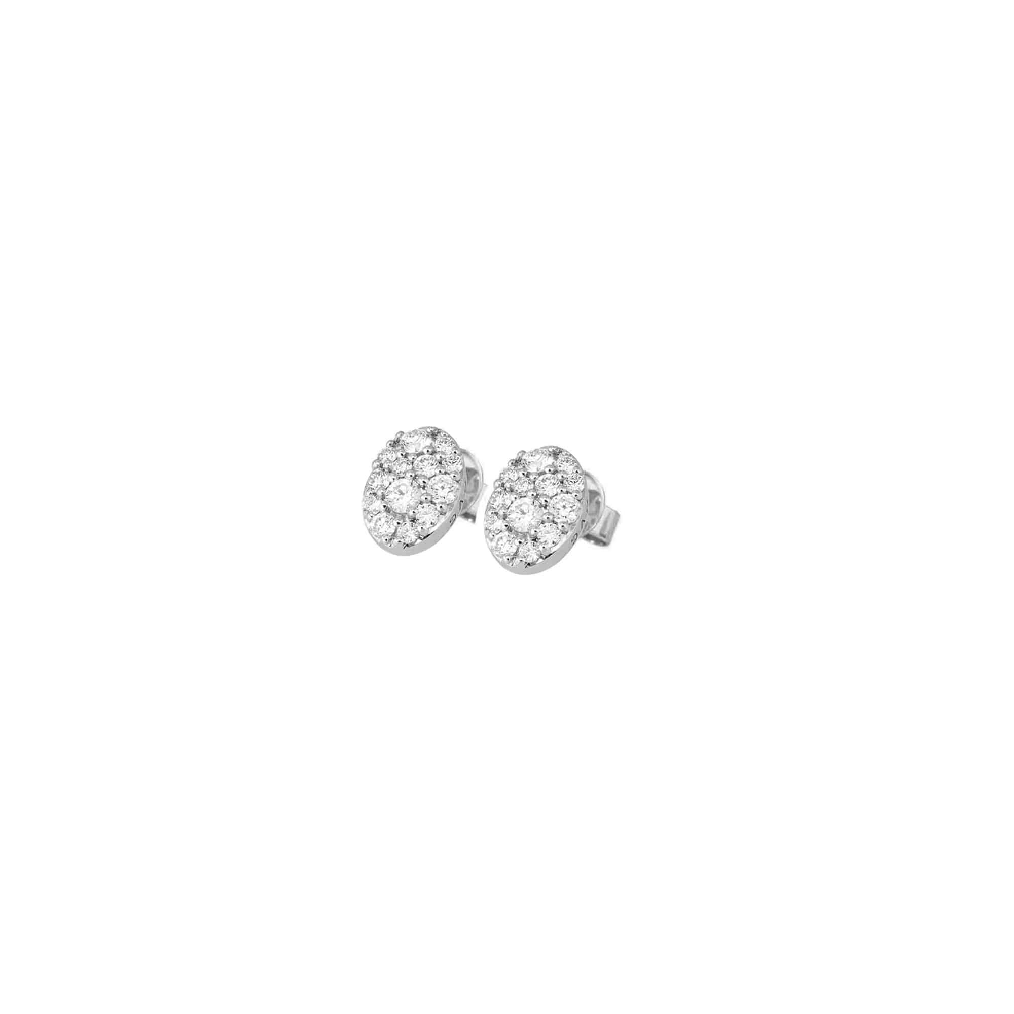 Ohrschmuck aus Weißgold mit Diamanten